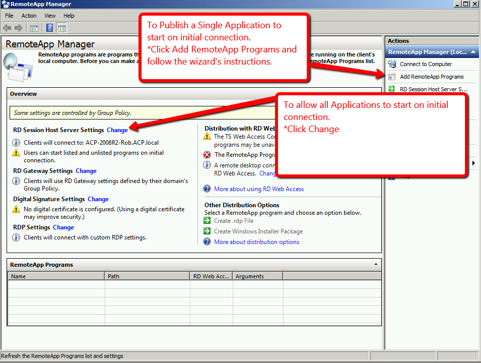 Windows Server 2008 R2 RDS Role Installation - ThinManager
