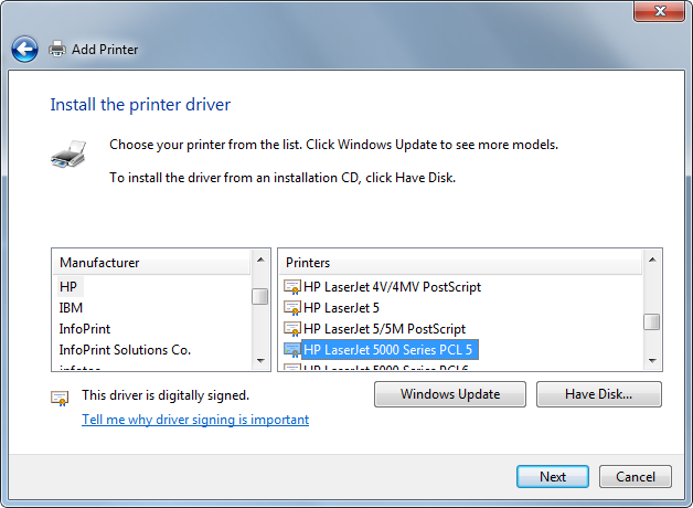 Printer Installation - ThinManager Knowledge Base