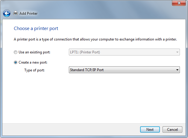 Printer Port Configuration