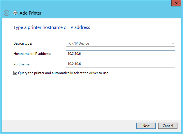 Populate the printer information
