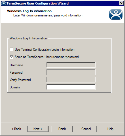 Windows Log In Information Page