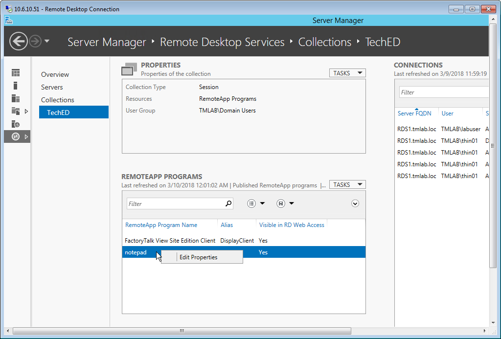 Windows Server 2012 R2 RDS Role Installation - ThinManager